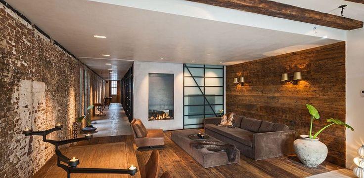 Dit Kantoor in Amsterdam is Omgebouwd tot Industriële Gezins-Loft — Pure Luxe