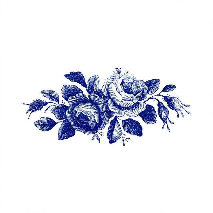 Blue Roses Vintage Flowers temporary tattoo Pattern Tattoo Temporary Tattoo wrist ankle body sticker fake tattoo by ArrowTattoo on Etsy https://www.etsy.com/listing/241869079/blue-roses-vintage-flowers-temporary