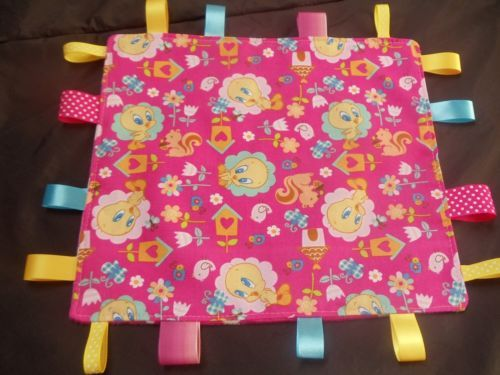 Tag-Blanket-Taggie-Tweety-in-Pink-with-FREE-Toy-Link-LAST-ITEM