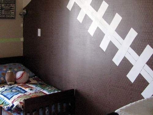 football wall for jayden's room