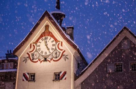 Obertor Winter (CHUR, Graubünden / Grisons, Schweiz / Switzerland)