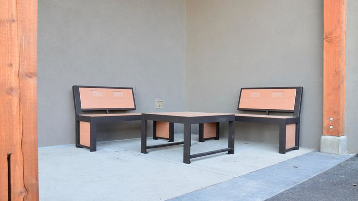 Urban Form Split Back Benches #bench #benches #streetfurniture #design #madeincanada