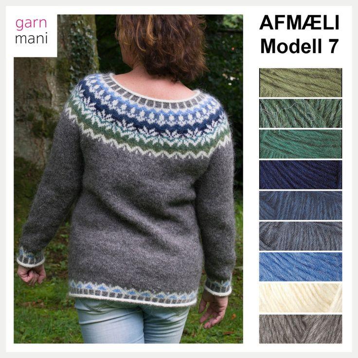 32 AFMÆLI Modell 7  Knitted in Lettlopi