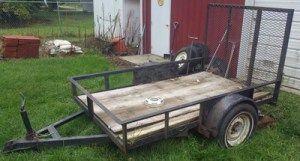 *Tandem axle car trailer w/ ramps *Fold down ramp lawn mower trailer