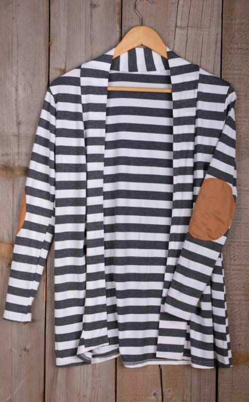 We've got you a spring must-have here! ONLY $21.99.This stripe cardigan is especially made for you! More heated loves at CUPSHE.COM !