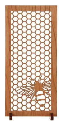 Mini wood screen, love the bee and honey comb, they also have a few Prairie art screens that are stunning.