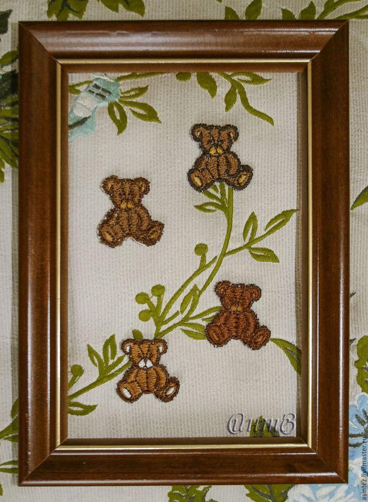 Купить ПОДАРОК набор 4 шт. вышивка, аппликация Мишка Тедди - вышивка, Аппликация