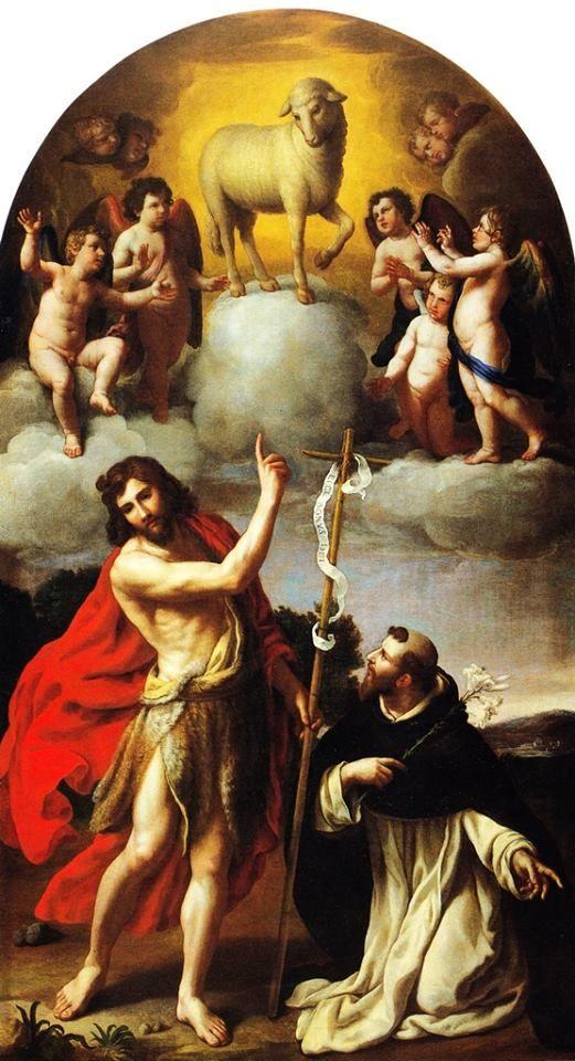 L'Agnello di Dio appare a san Giovanni Battista e san Domenico, opera di Alessandro Turchi che potete vedere al Museo di Castelvecchio, Verona