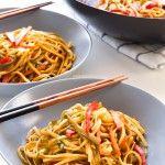 Noodles veganos con verduras   danzadefogones.com #danzadefogones