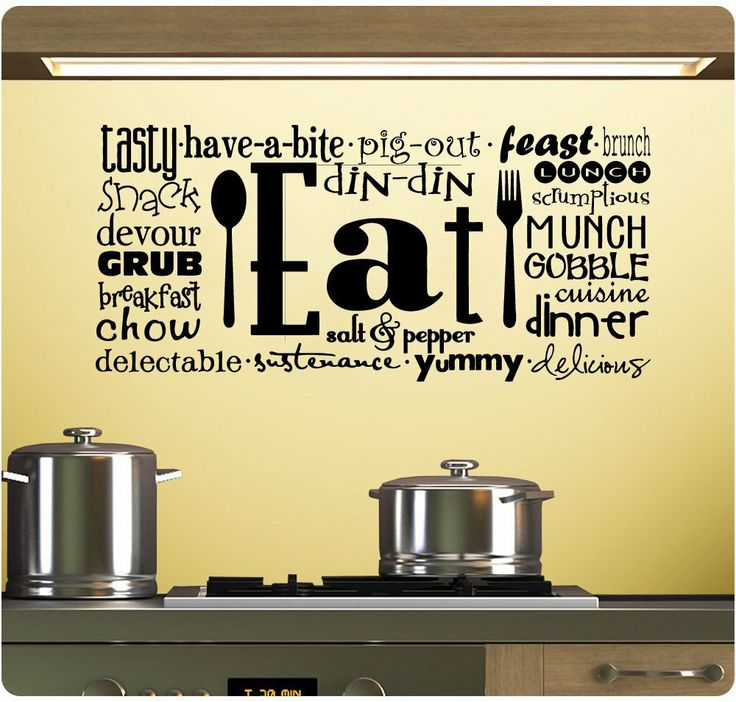 Amazon.com   Eat Tasty Breakfast Lunch Kitchen Wall Decal Sticker Art Mural  Home Décor Part 75