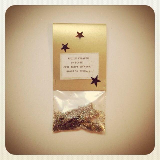 Sachet magique contenant une ETOILE FILANTE de Poche pour réaliser tes vœux quand tu veux : Cartes par graine-de-carrosse-42511