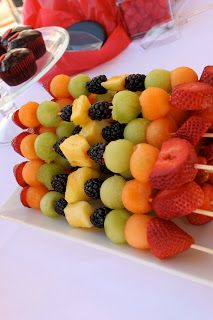 First Birthday Party Planning - fruit kabobs