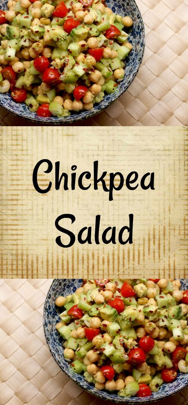 """Never overlook the power of simplicity. I managed to pull together a gorgeous bowl of """"Chickpea Salad"""" while """"eating down"""" my refrigerator & pantry!"""
