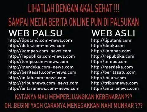Awas situs web palsu, untuk black campaign, pura-pura situs berita :( #prahara #pilpres2014