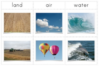 Land, Water And Air Presentation Cards