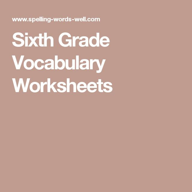 Mean Median Mode Range Worksheets Pdf Best  Vocabulary Worksheets Ideas On Pinterest  Vocabulary  Progressive Verbs Worksheets Pdf with Decimal Fractions Worksheet This Sixth Grade Vocabulary Worksheet Provides Fun And Important Practice  With Doublemeaning Words The Little Engine That Could Worksheets Word