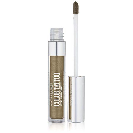 Maybelline Color Tattoo Eye Chrome Eyeshadow, Khaki Kool, 0.11 fl. oz., Beige