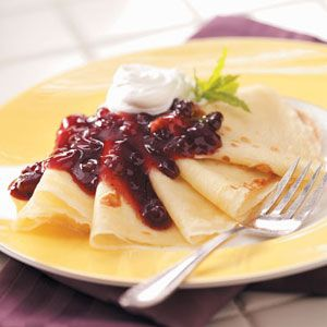 Swedish pancakes... I haven't had them in years but I've suddenly got a major craving for them!!