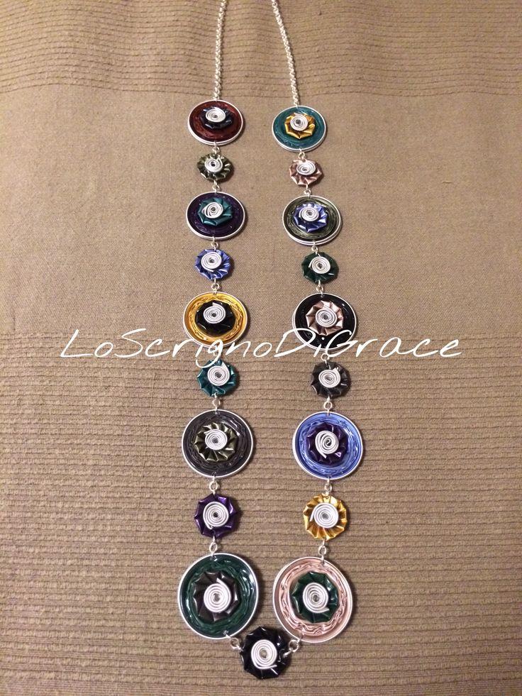 Collana lunga multicolor capsule nespresso