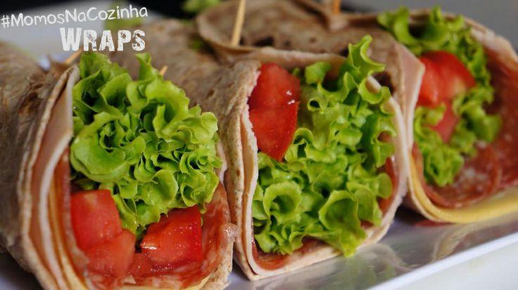 Wrap integral com queijo parmesão, blanquet de peru, salaminho, alface e tomate. #MomosNaCozinha #Wraps