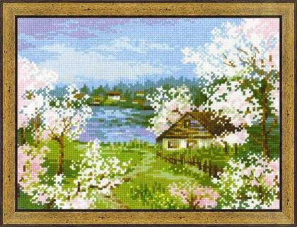 1524 Яблони в цвету - #riolis #xstitch #cross #stitch #риолис #вышивкакрестом