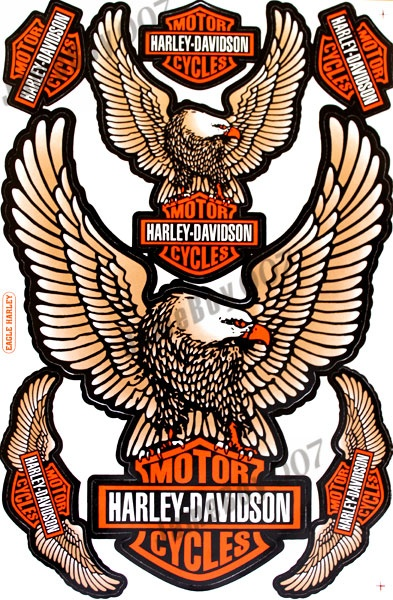 Copper Eagle Harley Davidson Stickers Decals Motorcycles Racing Kit