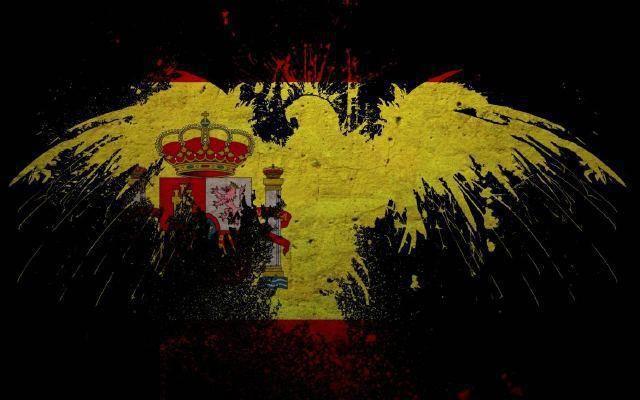 águila Española Bandera España Arte Mayor España