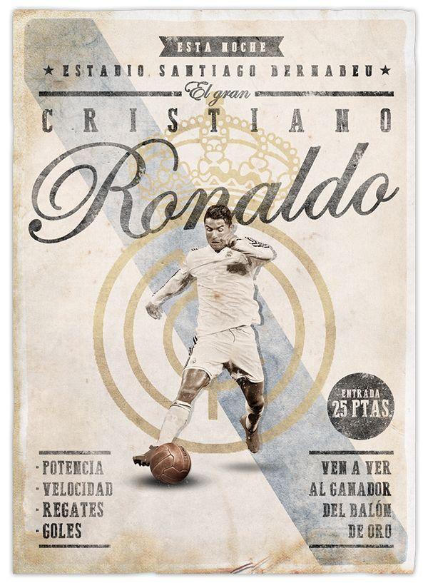 cristiano ronaldo, posters, football posters, retro, football, real madrid