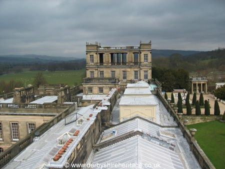 Chatsworth House roof: the lead weighs 243 tons and covers and area of 1 1/4 acres