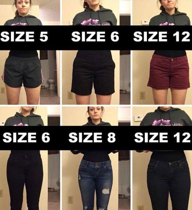 Eine Frau, viele Kleidergrößen - wer kennt das?