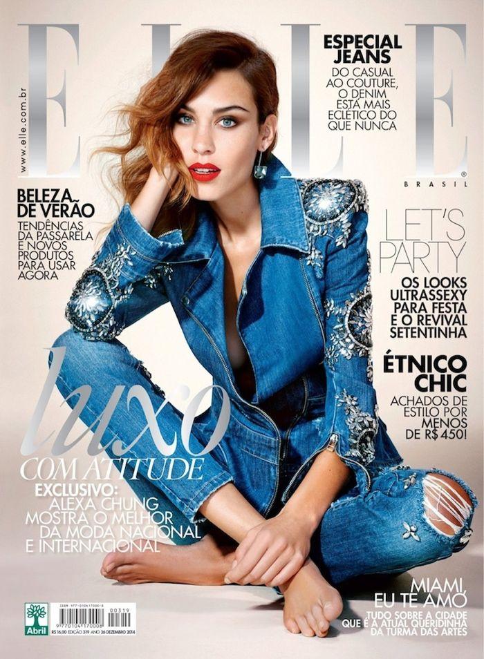 Alexa Chung para Elle Brasil Dezembro 2014 [Capas]