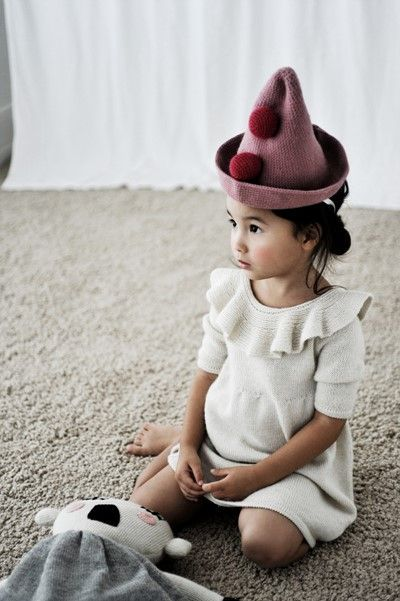 the dress! Waddler peruvian dress and gorgeous pink hat with pompoms