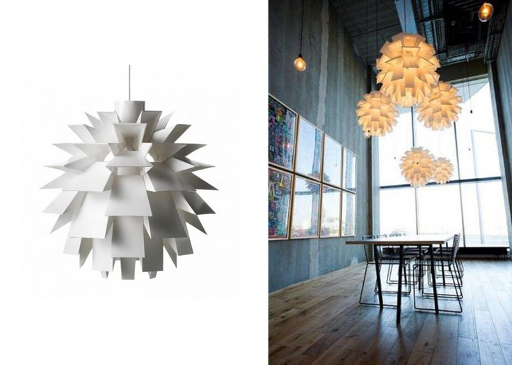 """Ilumina de forma creativa con """"Norm 69"""" Lámpara  compuesta de 69 piezas armables y diseñada en 1969 por Simon Karkov. $91,900"""
