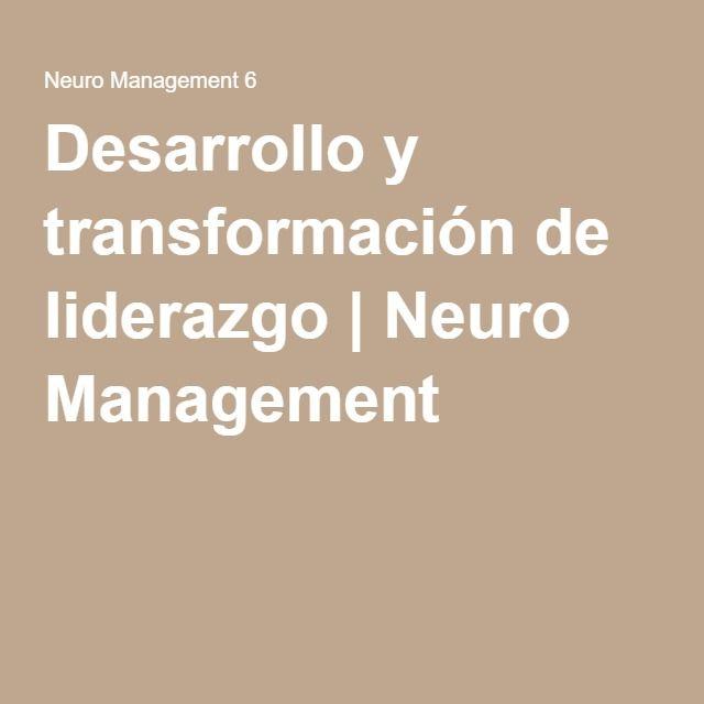 Desarrollo y transformación de liderazgo | Neuro Management 6. The Leadership Circle in Spanish .