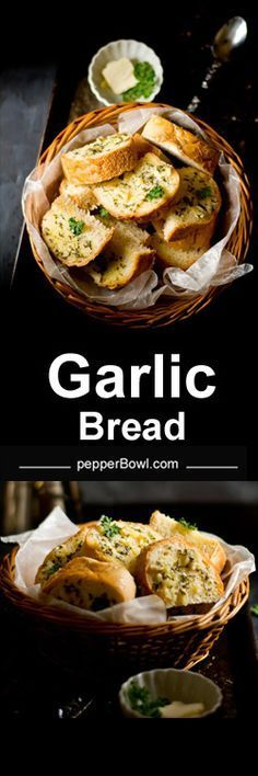 How to make homemade garlic bread? The recipes needs few ingredients and few instructions. This recipe yields creamy, garlic flavored, crispy and soft inside bread. | http://www.pepperbowl.com