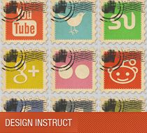 designinstruct.com - Tips for Photoshop, Illustrator, website design.  Also, great Freebies such as wallpapers, textures, templates, etc This particular link takes you to Vintage Social Media Stamps: Icon Pack