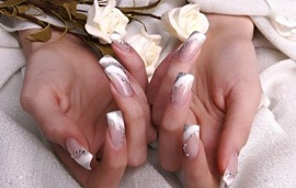 French manicure nails ... need to find a salon in San Jose though!