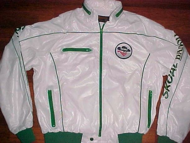 Swingster Skoal Bandit Chewing Tobacco White Green Full Zipper Hood Jacket L #Swingster