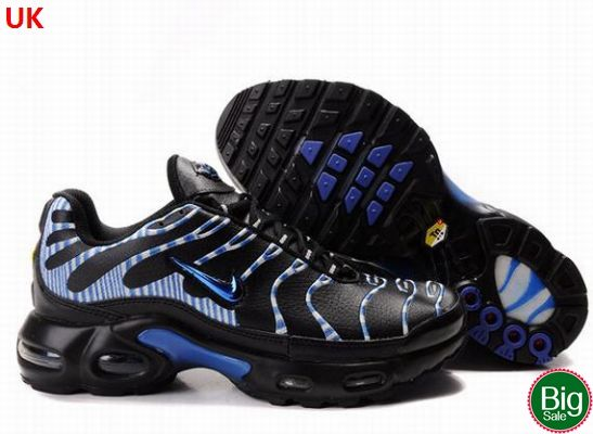 http://www.thedjshow.co.uk/ ,     Nike Air Max TN Mens Black White Metallic Blue UK Shoes