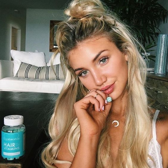 This gummy bear vitamin from SugarBearHair features clinically proven ingredients for lustrous hair!