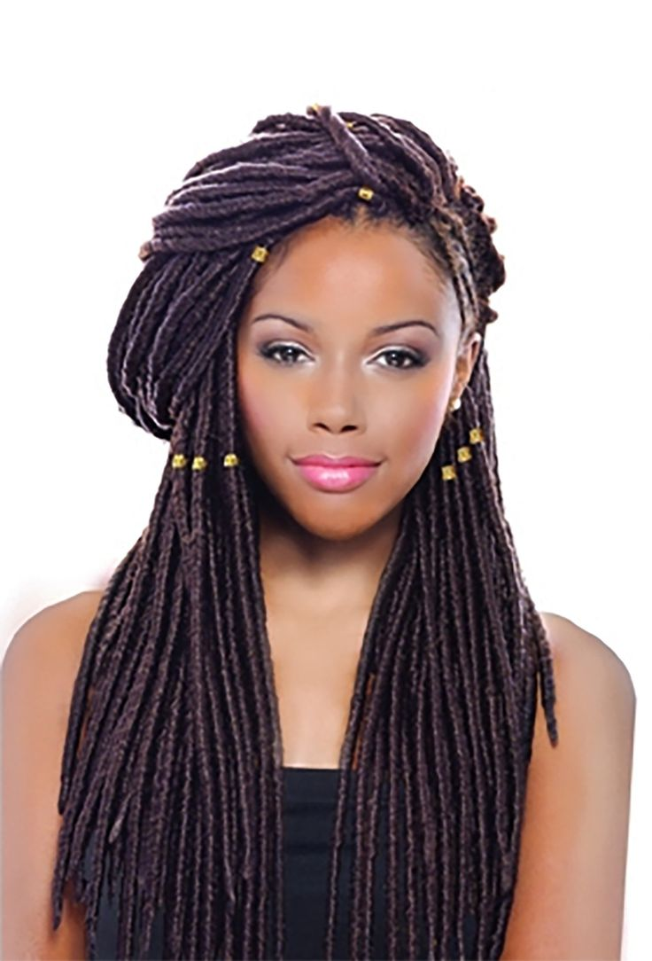 "- Description - Qualities - How to Style - About the Brand - Pricing - Shipping and Returns The Deja Vu Faux Locs 14"" is a great option for a faux locs style with 16 strands of hair and is pre-looped"