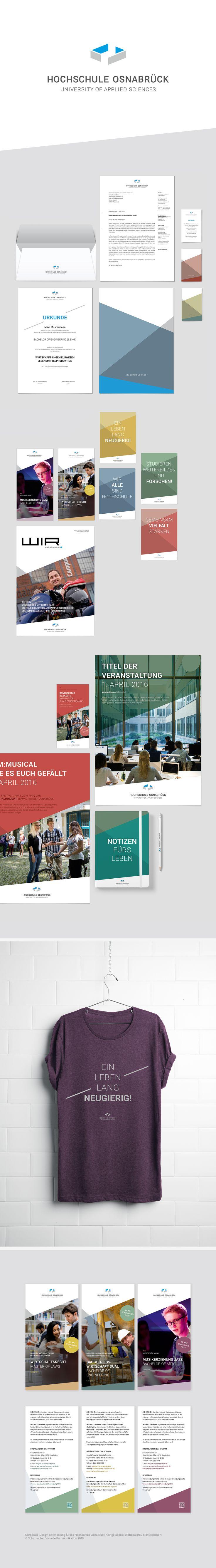 Corporate Designs für die Hochschule Osnabrück, eingeladener Wettbewerb. Nicht realisiertes Projekt. Basis war die von uns entwickelte neue Website der Hochschule. #corporatedesign #pitch #website #erscheinungsbild #hsos #hochschule #osnabrueck