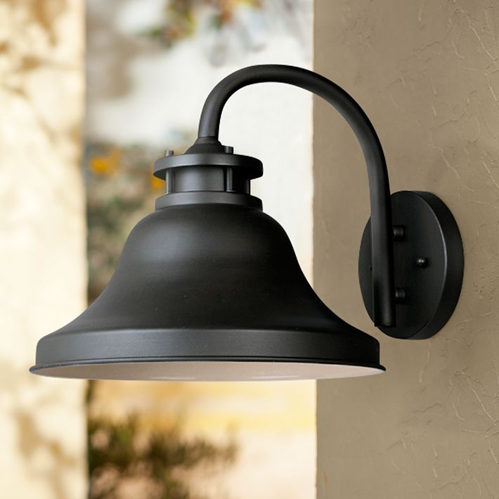Bayport Collection Dark Sky 10 1 4 High Outdoor Wall Light M5913 Lamps Plus Wall Lights Outdoor Wall Lighting Barn Lighting