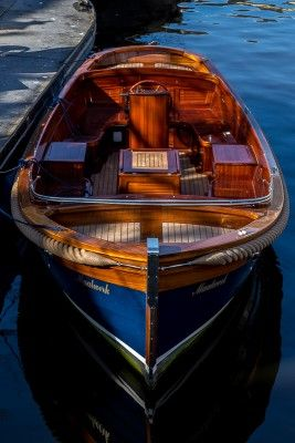 Beautiful wooden boat in The Netherlands