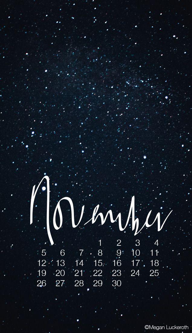 NOVEMBER CALENDARS + WALLPAPERS Календарь, Обои для