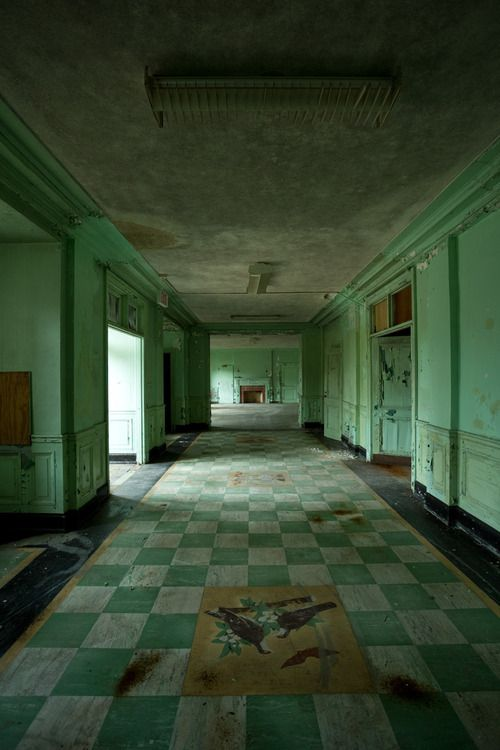 """""""This is the grand receiving lobby of the abandoned Unit 2 building at Mont Alto Sanatorium in Pennsylvania..."""""""