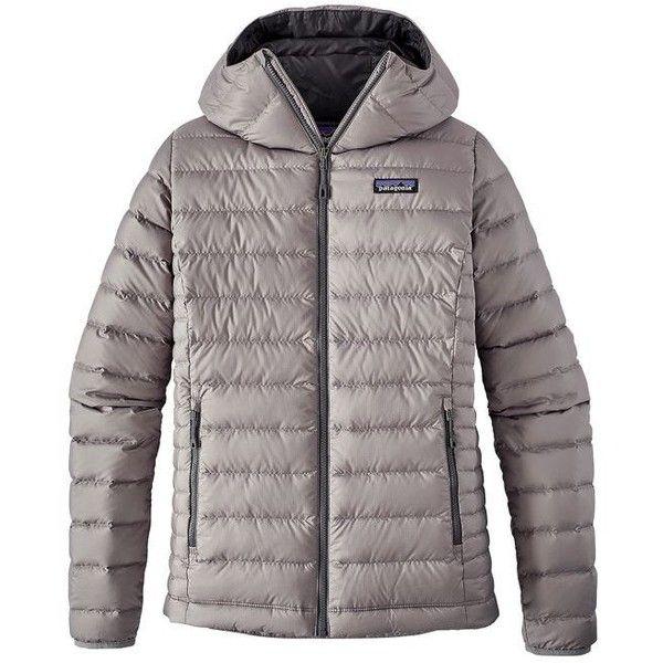 Patagonia Women's Down Sweater Hoody ❤ liked on Polyvore featuring tops, hoodies, hoodie top, patagonia hoodie, checkered hoodie, checkered top and patagonia