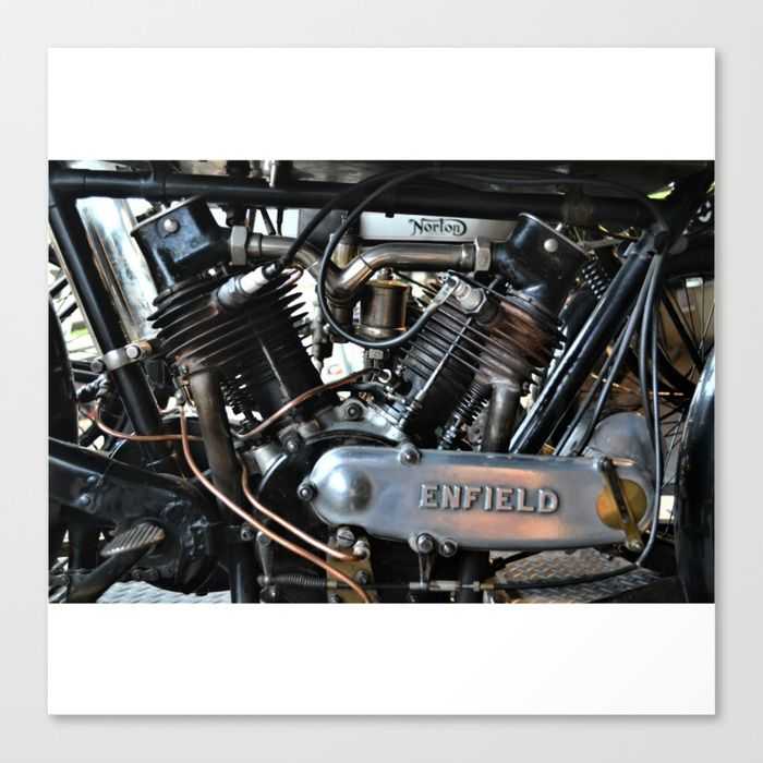 #Enfield #classics #motorcycles #Norton #photography #poster #society6 #industrial #metal #engine #homedecor
