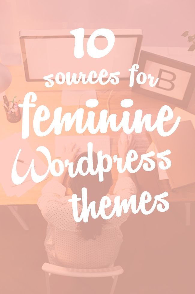 10 Sources for Feminine WordPress Themes