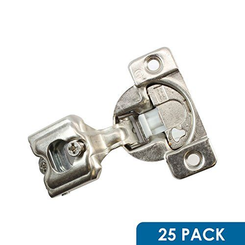 """25 Pack Rok Hardware Grass TEC 864 108 Degree 1"""" Overlay 3 Level Soft Close Screw On Compact Cabinet Hinge 04441A-15 3-Way Adjustment 45mm Boring Pattern  GRASS TEC 864 Soft Close Cabinet Hinge MADE IN THE USA  3-Way Adjustable In and Out Cam Adjustment 108 Degrees Opening Angle  Screw on wrap around mount cabinet hinge Includes 2x #6 x 5/8"""" Wood Screws and 1x #10 x 3/4"""" Wood Screw  1 in overlay soft closing hinge with custom 3 level soft close strength switch  Rok® Brand is sold exclu..."""